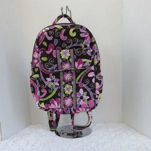 Vera Bradley Mini Backpack Purple Punch Pattern